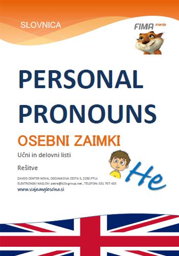 PERSONAL PRONOUNS - Osebni zaimki