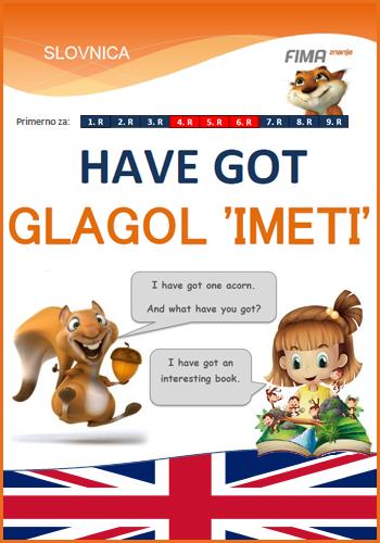 HAVE GOT – Glagol imeti