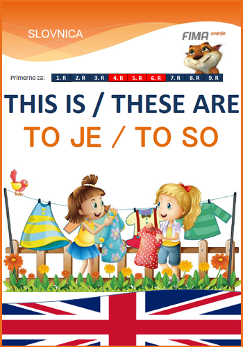 THIS IS / THESE ARE - To je / To so
