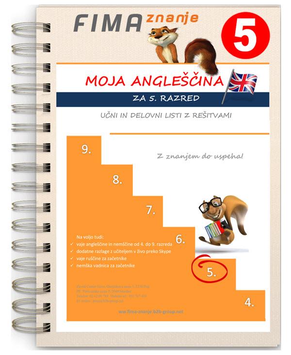 Vaje angleščine za 5. razred (PDF)
