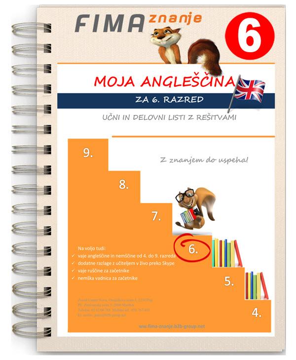 Vaje angleščine za 6. razred (PDF)